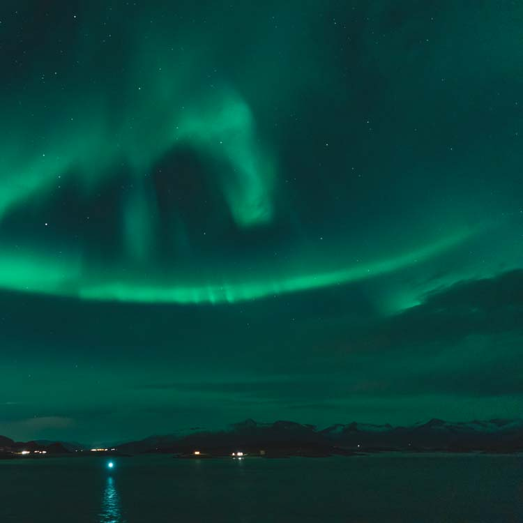Northern lights at Sommarøy Tromsø Norway